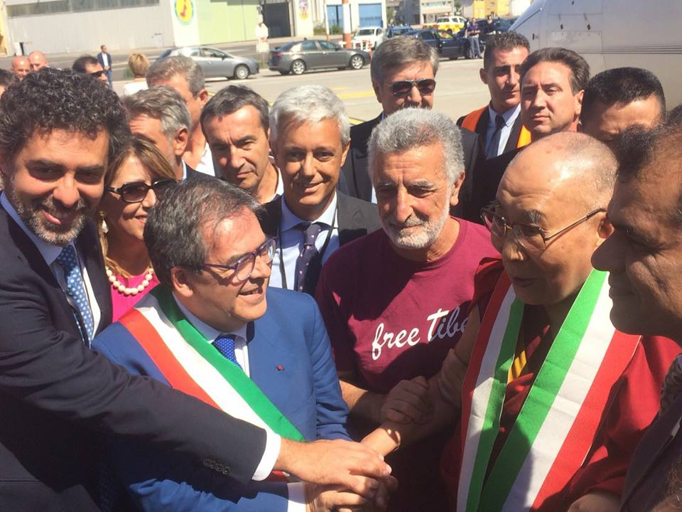 Dalai Lama arrivo sicilia