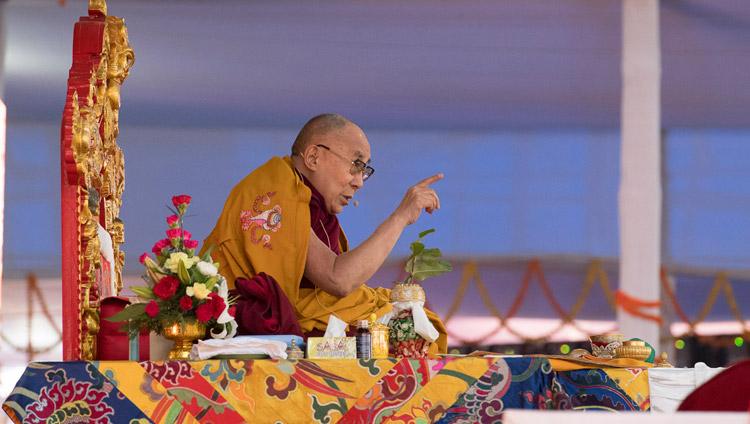 Dalai Lama a Bodhgaya