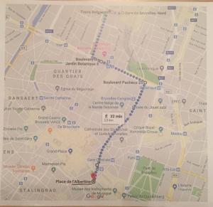 Cartina percorso marcia