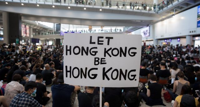 Hong Kong protesta