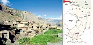 Mappa distretto di Gorkha